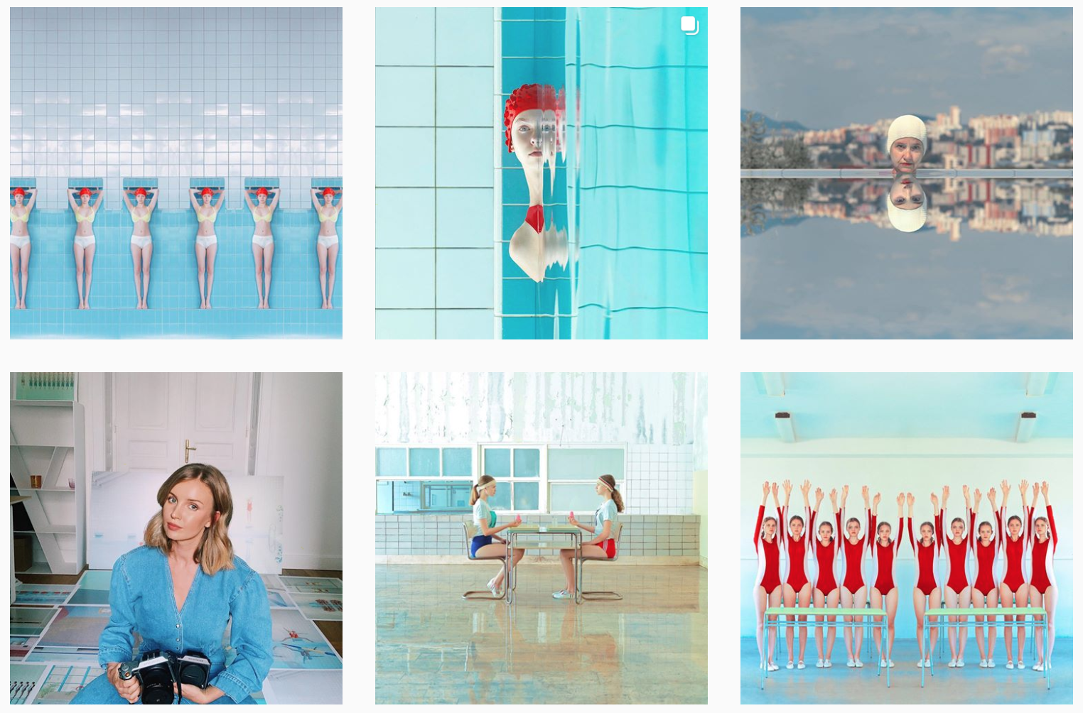 Maria Švarbová e il fascino discreto (e surreale) delle piscine comunali