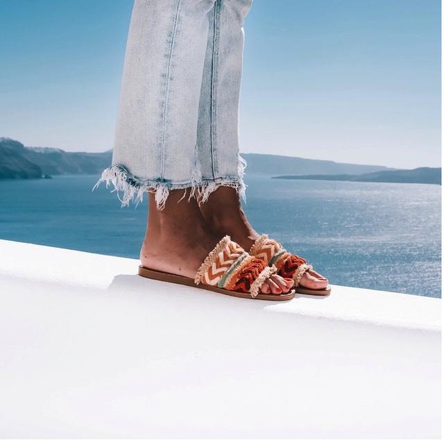 sandali di rafia di manebì