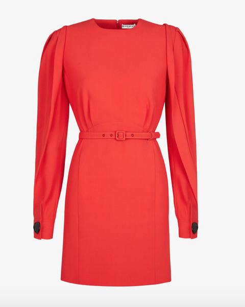 Sleeve, Collar, Dress, Red, Textile, Standing, Style, Formal wear, Pattern, Orange,