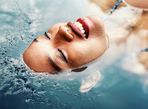 Fluid, Liquid, Lip, Fun, Leisure, Happy, Swimming pool, Facial expression, People in nature, Tooth,