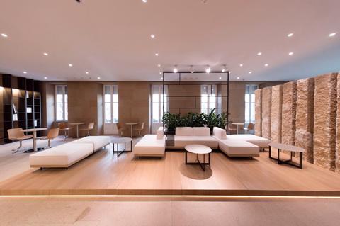 Interior design, Floor, Room, Ceiling, Furniture, Flooring, Wall, Couch, Interior design, Real estate,