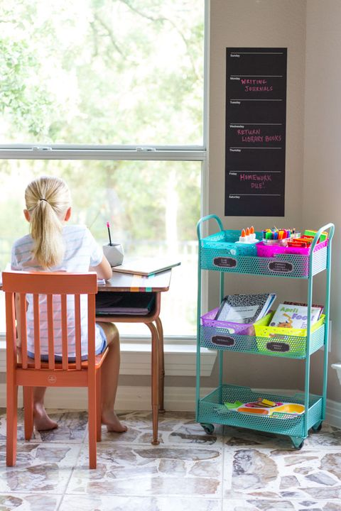 school organization ideas homework station