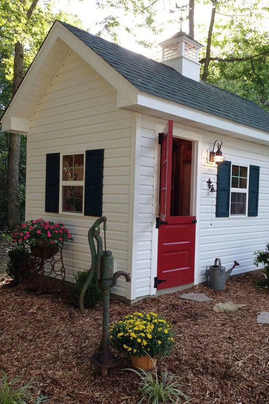 19 whimsical garden shed designs storage shed plans for Tops garden buildings