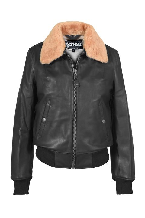 Clothing, Jacket, Leather, Outerwear, Leather jacket, Black, Sleeve, Collar, Textile, Top,
