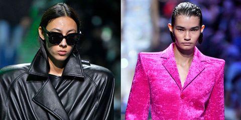Eyewear, Hair, Fashion model, Sunglasses, Fashion, Hairstyle, Pink, Beauty, Lip, Model,