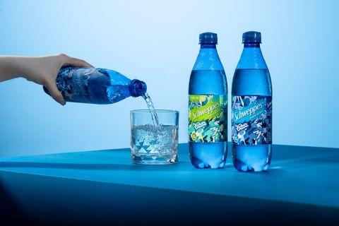 「schweppes舒味思」氣泡水狠氣泡藝術瓶