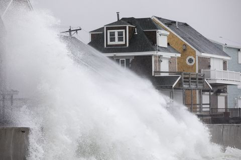 Water, Atmospheric phenomenon, Wave, House, Wind wave, Winter, Architecture, Photography, Geological phenomenon, Storm,