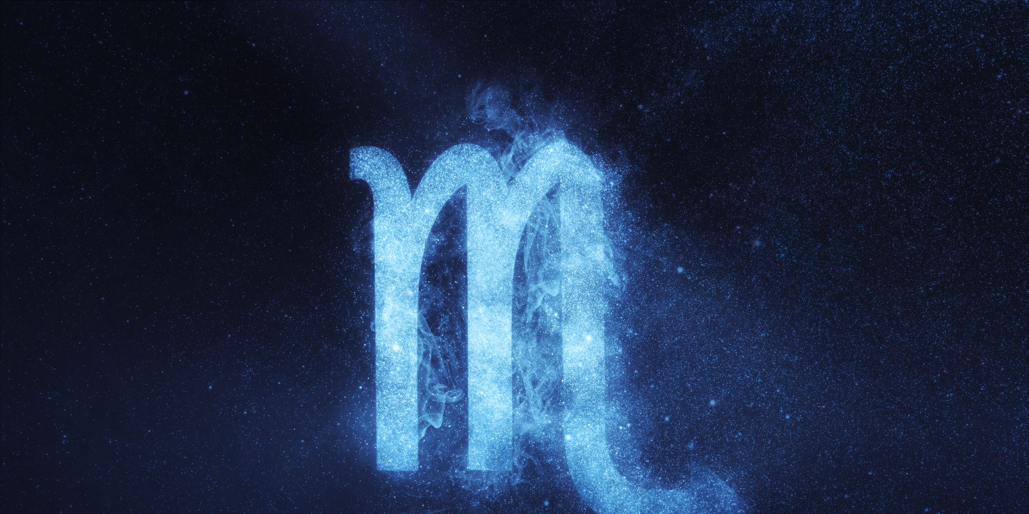 Scorpio Zodiac Sign. Abstract night sky background