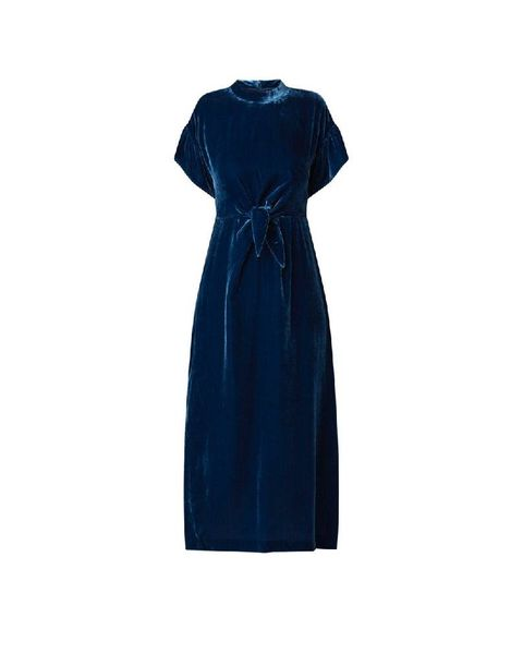 Clothing, Dress, Blue, Day dress, Cobalt blue, Cocktail dress, Sleeve, Electric blue, Formal wear, Gown,