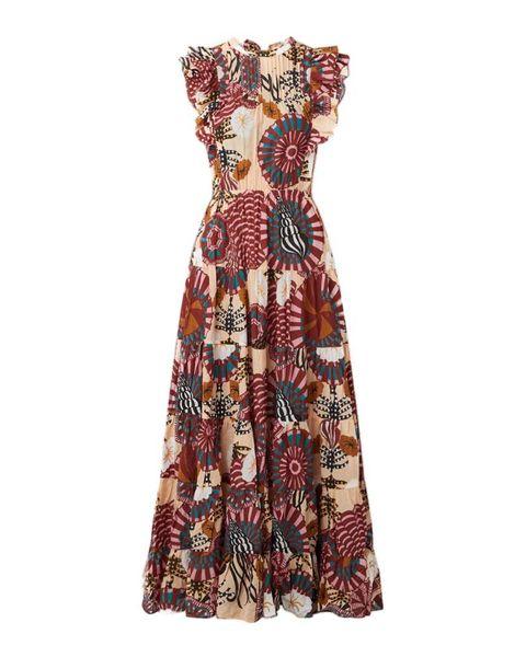 scotch  soda maxi jurk met print en strikdetail