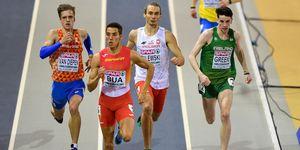 Lucas Búa gana su serie de 400m en el Europeo de Glasgow