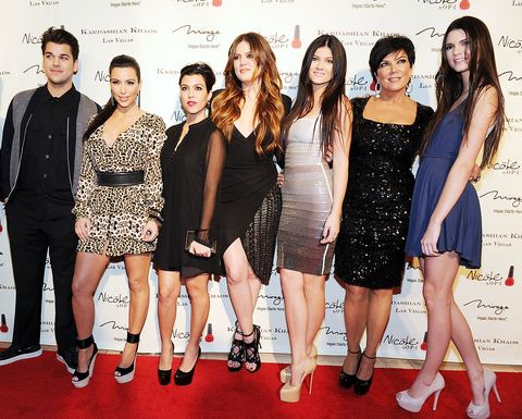 the kardashian family celebrates the gradn opening of kardashian khaos at the mirage hotel  casino   red carpet