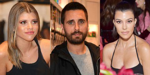 Sofia Richie, Scott Disick, and Kourtney Kardashian