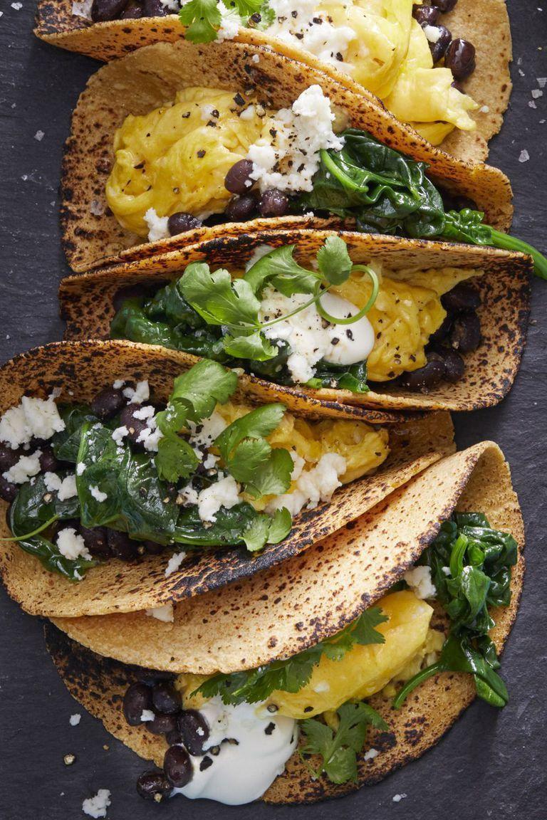 Vegetarian Meals Scrambled Egg Tacos