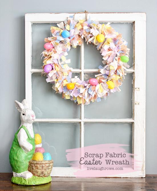 diyscrap fabric easter wreath