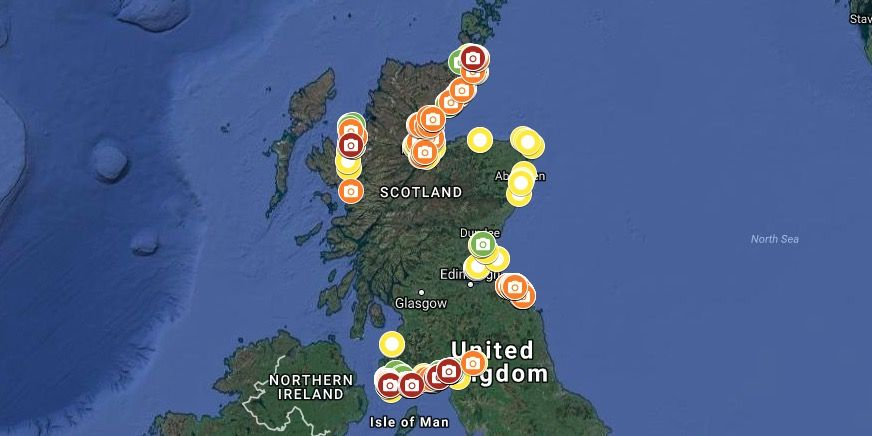 SCRAPbook - Scotland beaches - litter - Google Maps