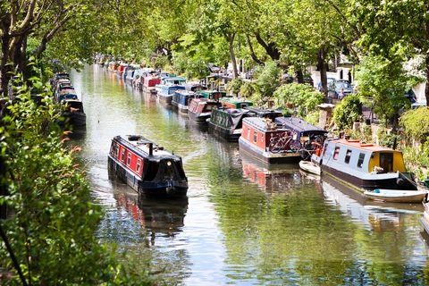 little venice, regent´s canal, london   england