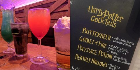 The bar behind the Disney drinks is now doing Harry Potter cocktails