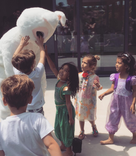 The Kardashians celebrate Easter with a super cute party and petting zoo