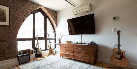 Room, Property, Interior design, Bedroom, Furniture, Building, Floor, House, Loft, Architecture,