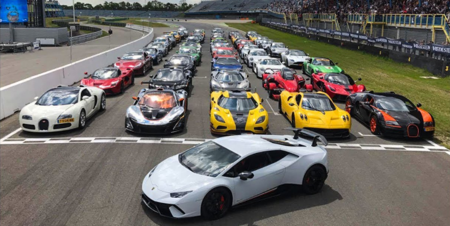 Watch All of Your Dream Cars Rip Around a Track During this Massive Supercar Gathering