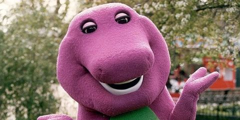 This is what the man who played Barney the dinosaur looks like