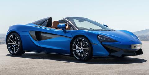 McLaren 570S Spider blue