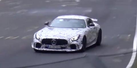 Mercedes Benz AMG GT Black Series spy shot