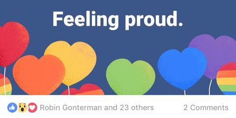 Facebook has a rainbow reaction to celebrate pride - but not everyone is allowed to use it