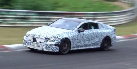 Mercedes-AMG GT Four Door Nurburgring Spy shot