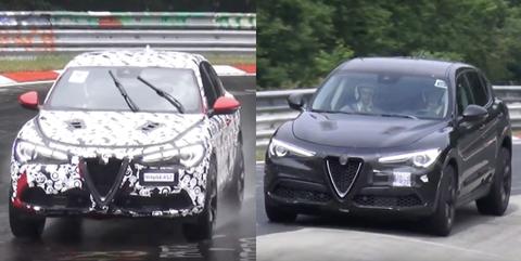 Alfa Romeo Stelvio Nurburgring testing