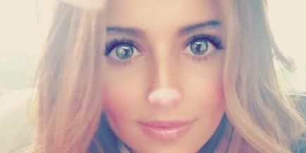 Cheryl selfie baby bear