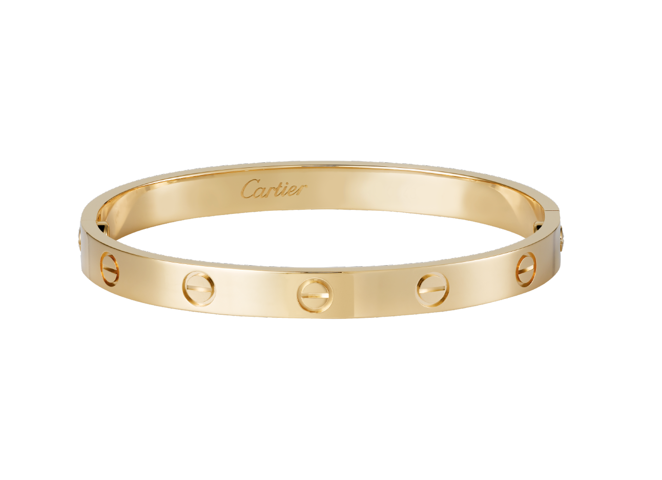gold love watch bangle solid tone flat cnc bangles plated lock