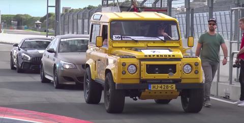 Defender Tophat track car
