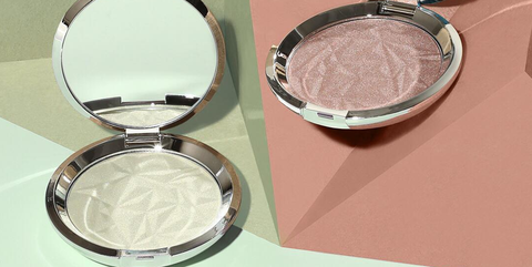Product, Cosmetics, Beauty, Eye shadow, Eye, Mirror, Face powder, Material property, Makeup mirror, Powder,
