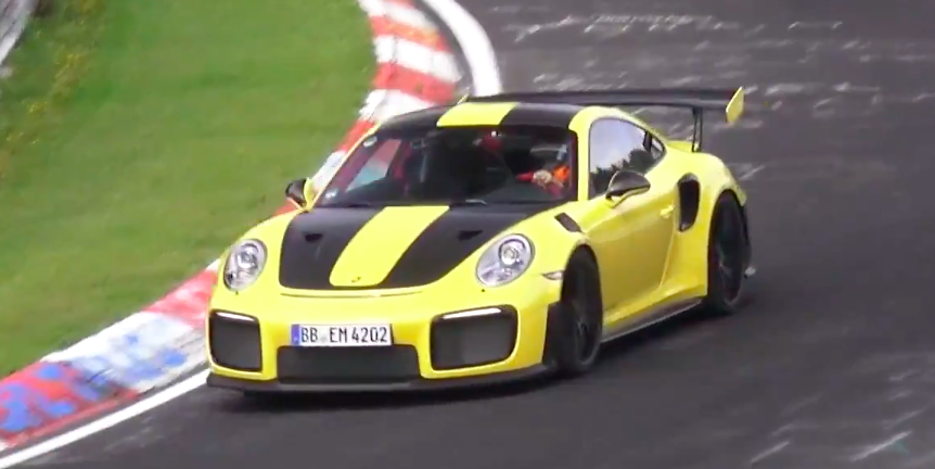 This Production-Looking Porsche 911 GT2 RS Looks Incredibly Fast on the Nurburgring