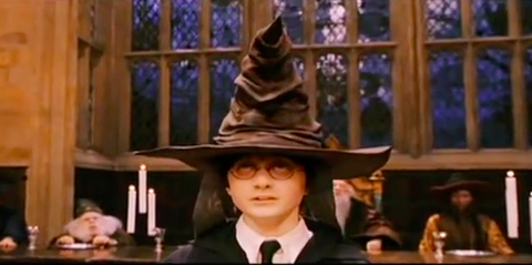 Sliding in to Slytherin - the geeky mormon |Sorting Hat Scene