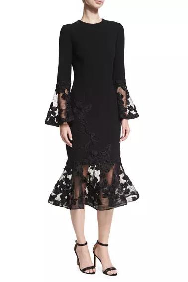 black winter dress