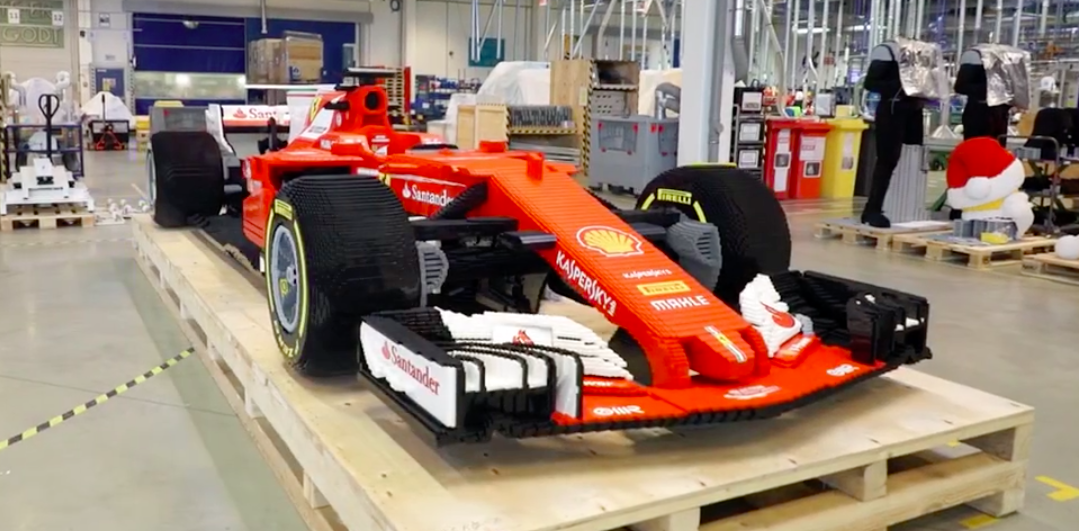 This Life Size Ferrari Formula One Car Is Made Of 350 000 Lego Bricks