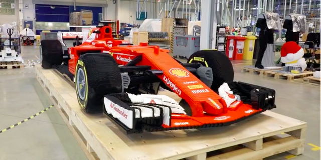 This Life Size Ferrari Formula One Car Is Made Of 350 000 Lego Bricks