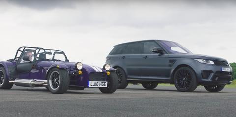Range Rover vs Caterham