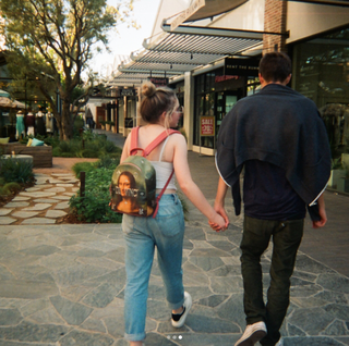 Pair on a stroll; Sabrina Carpenter and Corey Fogelmanis
