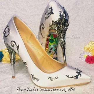 These Beauty And The Beast Bridal Heels Will Make You Feel Like The
