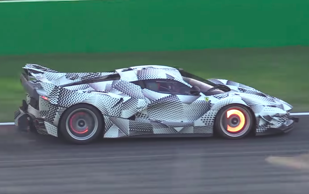 Is This Ferrari Test Mule With a Very Large Wing the FXX K