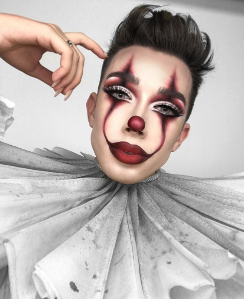 James Charles Did a Pennywise the Clown Makeup Tutorial
