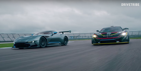 McLaren P1 GTR versus Aston Martin Vulcan
