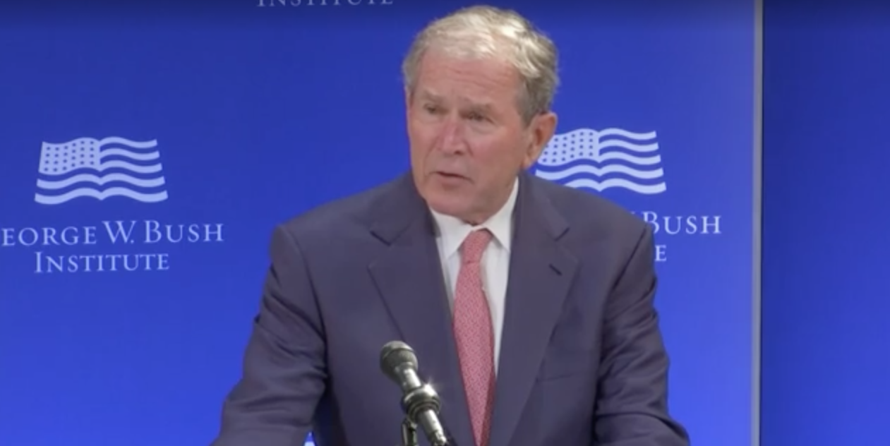 George W. Bush in New York on Oct. 19, 2017