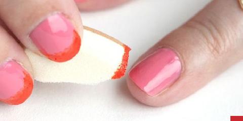 Nail polish, Nail, Manicure, Finger, Nail care, Cosmetics, Pink, Service, Hand, Peach,