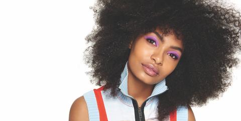 Hair, Afro, Hairstyle, Face, Jheri curl, Black hair, Beauty, Human, Lip, Wig,