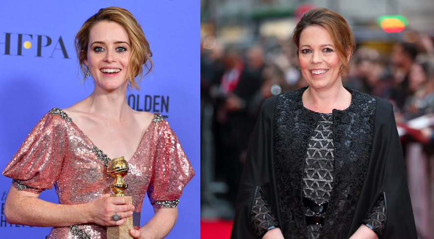 Olivia Colman and Claire Foy